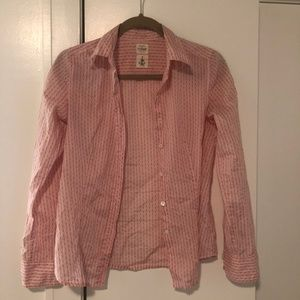 J. Crew Pink Button Down Size 0